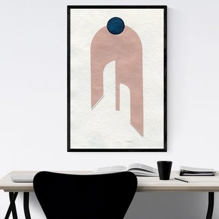 Noir Gallery Minimal Abstract Pink Shape Framed Art Print