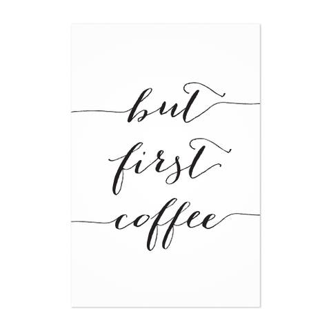 Noir Gallery Coffee Kitchen Typography Unframed Art Print/Poster
