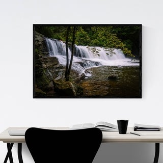 Noir Gallery North Carolina Waterfalls Nature Framed Art Print
