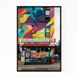 Noir Gallery Greenpoint Deli Brooklyn NYC Framed Art Print