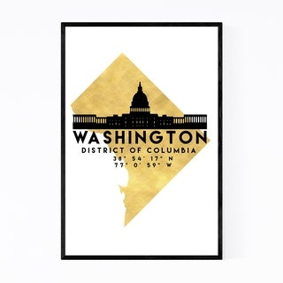 Noir Gallery Minimal Washington Skyline Framed Art Print