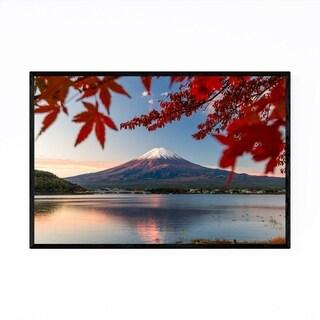 Noir Gallery Mt. Fuji Lake Kawaguchiko Japan Framed Art Print