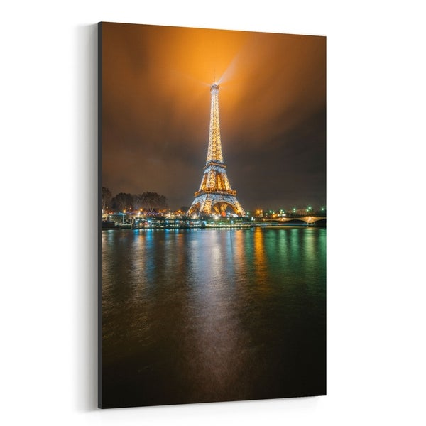 Shop Noir Gallery Eiffel Tower Night Paris France Canvas