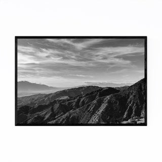Noir Gallery Joshua Tree Park Mountain Desert Framed Art Print