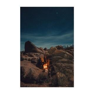Noir Gallery Desert Camping California Fire Unframed Art Print/Poster