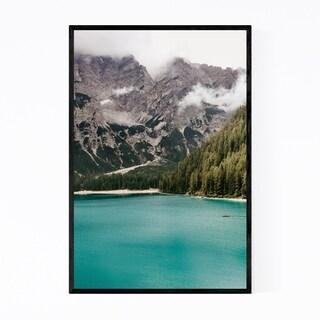 Noir Gallery Dolomites Italy Lake Braies Framed Art Print