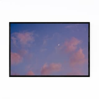 Noir Gallery Moon Sunset Colorful Clouds Sky Framed Art Print