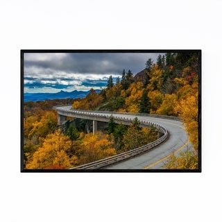 Noir Gallery Linn Cove Viaduct North Carolina Framed Art Print