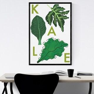 Noir Gallery Kale Vegetable Food Kitchen Framed Art Print
