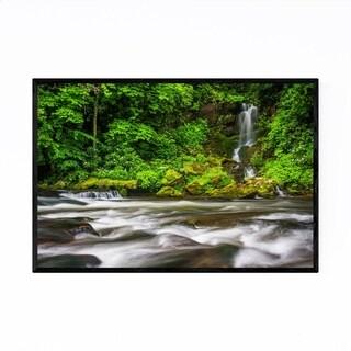 Noir Gallery Great Smoky Mountains Waterfall Framed Art Print