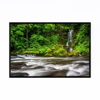 Noir Gallery Great Smoky Mountains Waterfall Framed Art Print