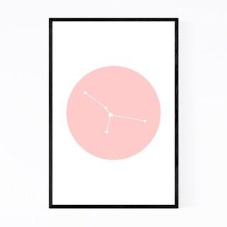 Noir Gallery Pink Cancer Astrology Zodiac Framed Art Print