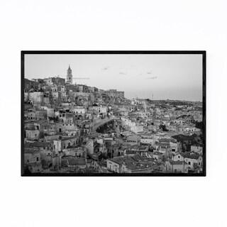 Noir Gallery Black & White Matera Italy Framed Art Print