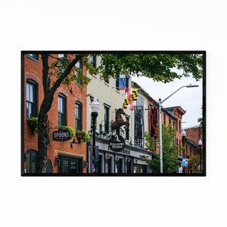 Noir Gallery Federal Hill Baltimore Urban Framed Art Print