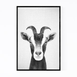 Noir Gallery Goat Nursery Peekaboo Animal Framed Art Print