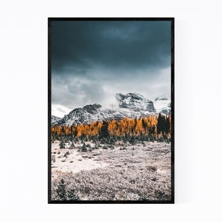 Noir Gallery Banff Autumn Mountains Alberta Framed Art Print