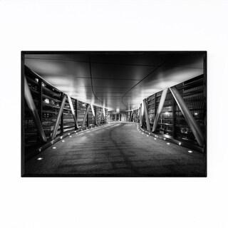 Noir Gallery Black & White Hong Kong Night Framed Art Print