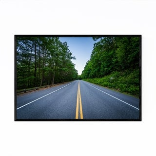 Noir Gallery New Hampshire Forest Road Framed Art Print