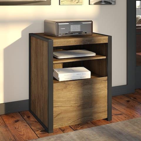 Carbon Loft Jannah Printer Stand File Cabinet in Rustic Brown