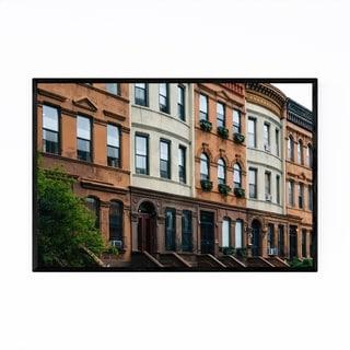 Noir Gallery Harlem Houses New York City NYC Framed Art Print