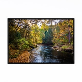 Noir Gallery Autumn Fall Color River Forest Framed Art Print