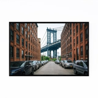 Noir Gallery Manhattan Bridge DUMBO New York Framed Art Print