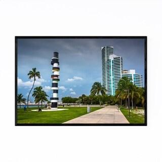 Noir Gallery Miami Beach, Florida Lighthouse Framed Art Print