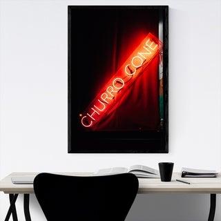 Noir Gallery Churro Cone Neon Sign New York Framed Art Print