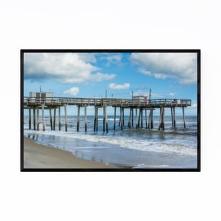 Noir Gallery Margate City Pier New Jersey Framed Art Print