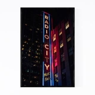 Noir Gallery Radio City Music Hall New York Framed Art Print