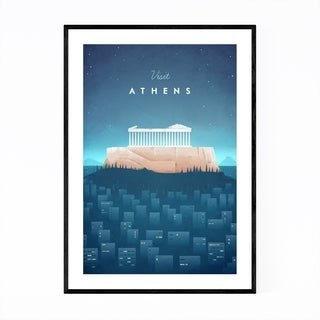 Noir Gallery Minimal Travel Poster Athens Framed Art Print