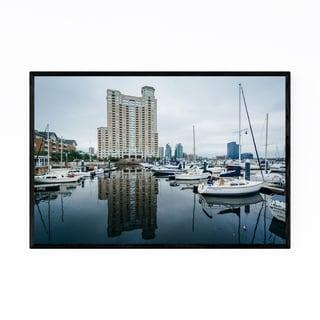 Noir Gallery Inner Harbor Boats Baltimore Framed Art Print