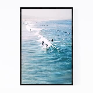 Noir Gallery Venice Beach Surfing Wave Ocean Framed Art Print