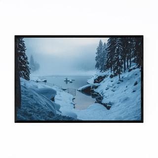 Noir Gallery Alpine Lake Switzerland Alps Framed Art Print