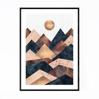 Noir Gallery Fall Mountain Geometric Abstract Framed Art Print