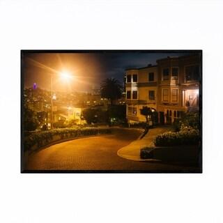 Noir Gallery Night Cityscape Baltimore MD Framed Art Print