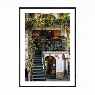 Noir Gallery Positano Italy Delicatessen Framed Art Print
