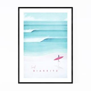 Noir Gallery Minimal Travel Poster Baiarritz Framed Art Print