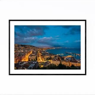 Noir Gallery Naples Italy Cityscape Photo Framed Art Print