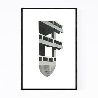 Noir Gallery Abstract Architecture Collage Framed Art Print