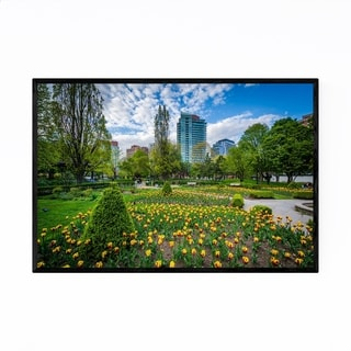 Noir Gallery Toronto Gardens City Park Urban Framed Art Print