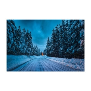 Noir Gallery Winter Snow Road Sweden Nature Unframed Art Print/Poster