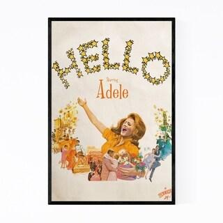 Noir Gallery Adele Hello Music Pop Culture Framed Art Print