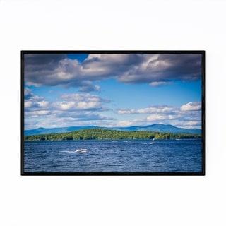 Noir Gallery Weirs Beach New Hampshire Lake Framed Art Print