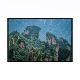 Noir Gallery Hunan China Mountains Landscape Framed Art Print