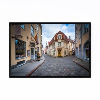 Noir Gallery Tallinn Architecture in Old Town Framed Art Print
