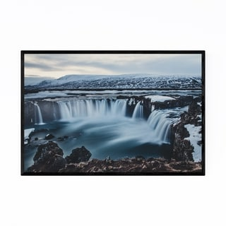 Noir Gallery Iceland Waterfall Landscape Framed Art Print