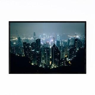 Noir Gallery Hong Kong Skyline Victoria Peak Framed Art Print