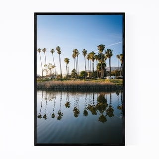 Noir Gallery Santa Barbara Beach Palm Trees Framed Art Print