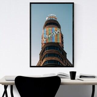 Noir Gallery Madrid City Spain Schweppes Sign Framed Art Print
